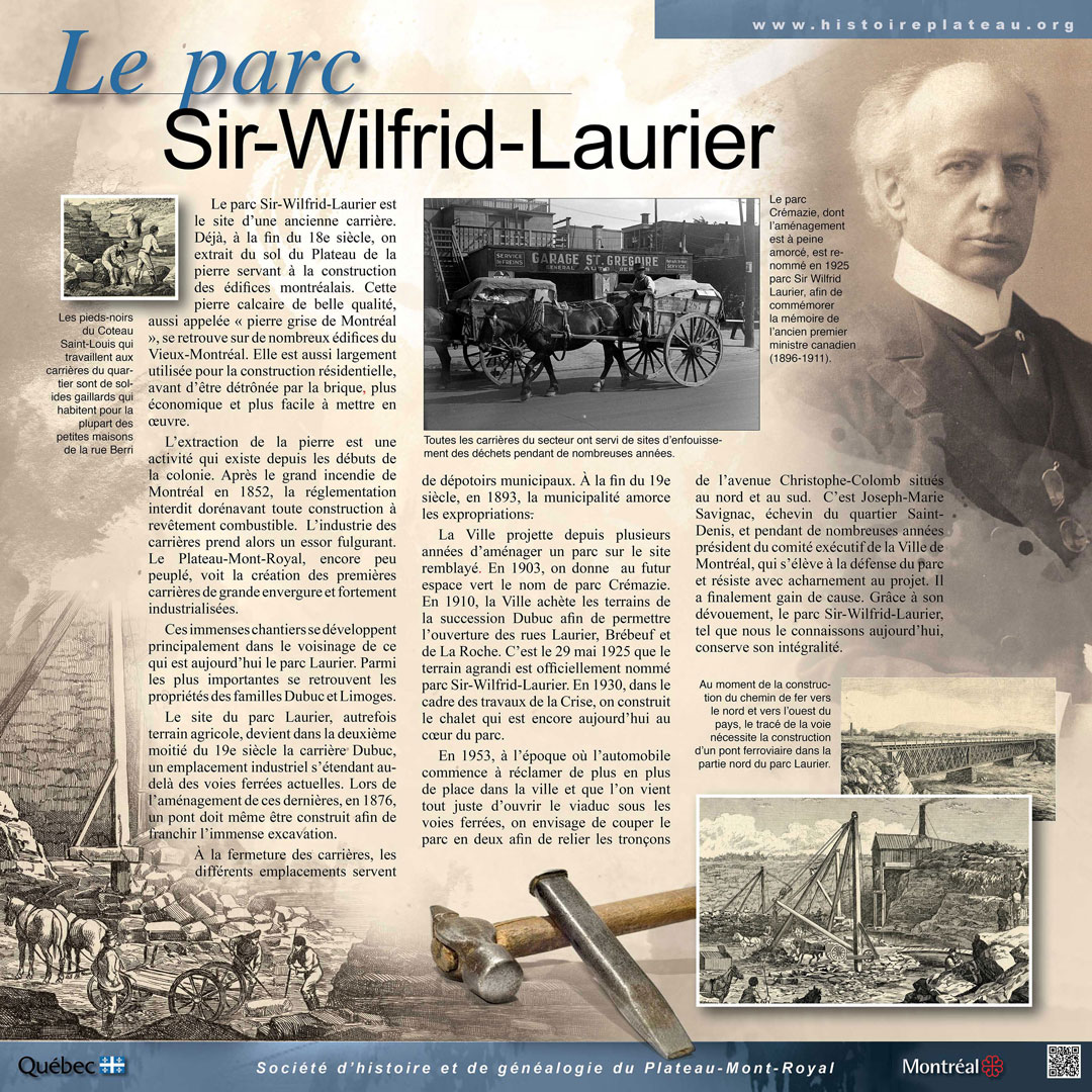 Plaque du parc Sir-Wilfrid-Laurier