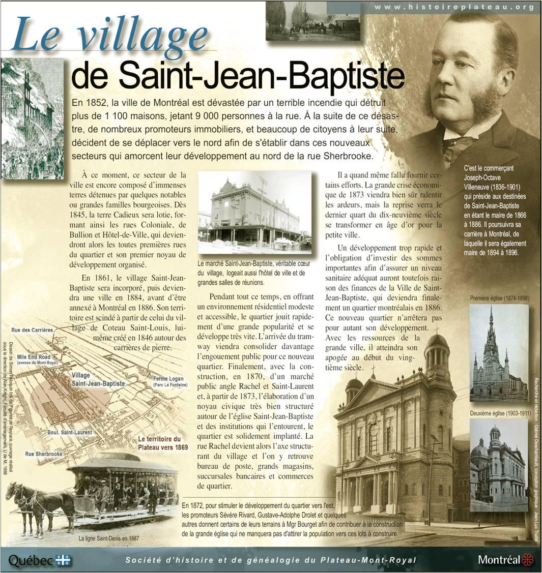 Plaque du Village Saint-Jean-Baptiste