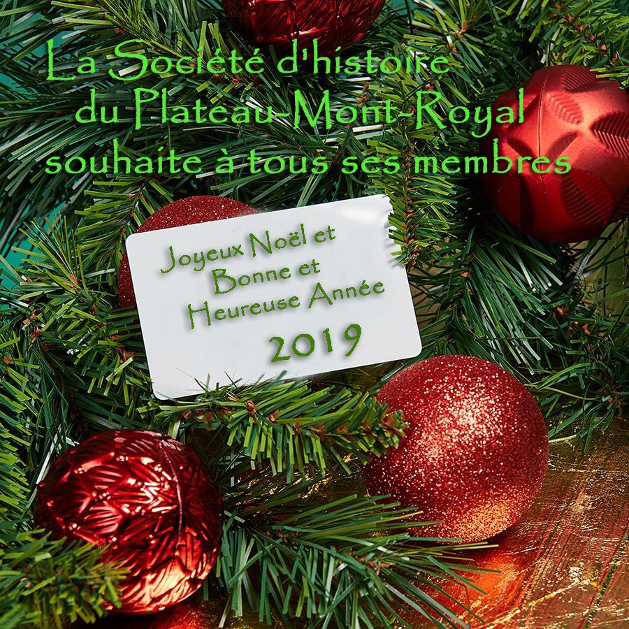 Souhaits de Noël 2018 de la SHP